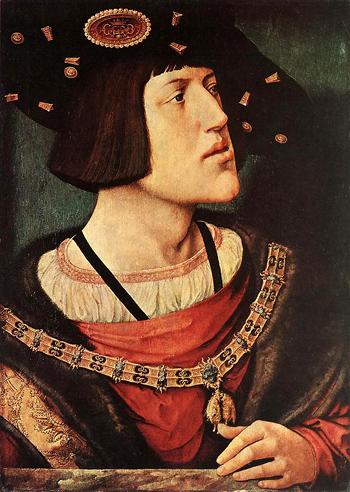 Kaiser Karl V., Gemälde von Bernhard von Orley, 1519-1520