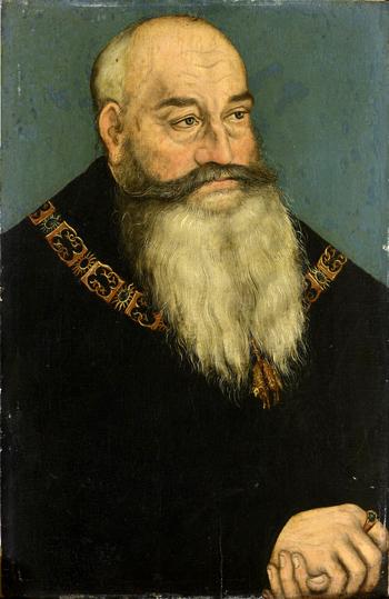 """Georg von Sachsen, """"Georg der Bärtige"""", Gemälde von Lucas Cranach d. Ä., zwischen 1534-1439"""
